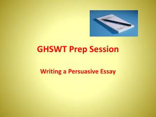 GHSWT Prep Session