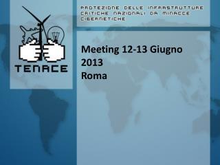 Meeting 12-13 Giugno 2013 Roma