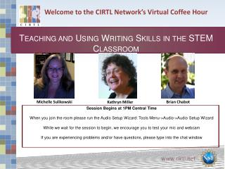 Welcome to the CIRTL Network's Virtual Coffee Hour
