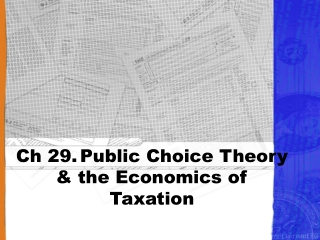 public choice theory and the economics of taxation