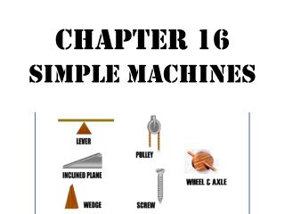 Chapter 16 Simple Machines