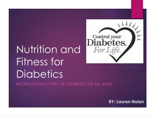Nutrition and Fitness for Diabetics