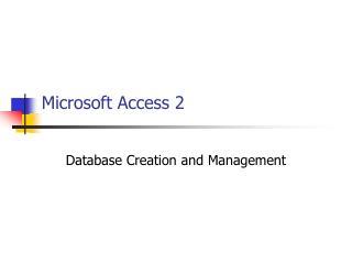 Microsoft Access 2