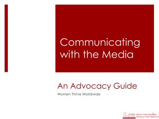 An Advocacy Guide