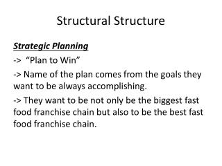Structural  Structure
