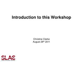 Introduction to this Workshop