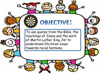 To use quotes from the Bible, the teachings of Jesus and the work of Martin Luther King  Jnr  to understand Christian v