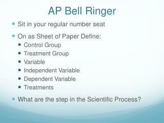 AP  Bell Ringer