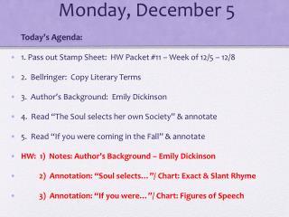 Monday, December 5