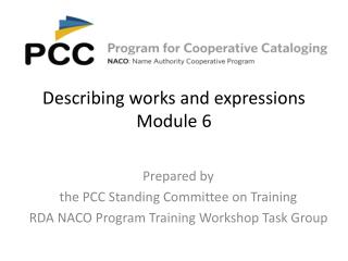 Describing works and expressions Module 6