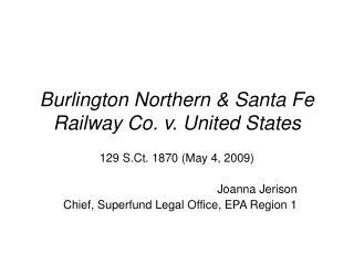 burlington northern  santa fe railway co. v. united states