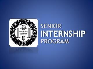 senior internship