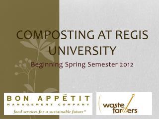 Composting At Regis University