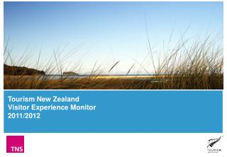 Tourism New Zealand Visitor Experience Monitor 2011/2012