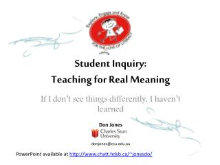 Student Inquiry:  Teaching for Real Meaning