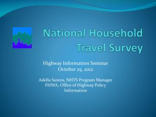National Household  Travel Survey