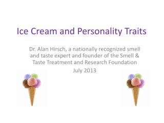 Ice Cream and Personality Traits