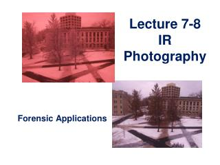 Lecture 7-8 IR Photography