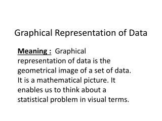 Graphical Representation of Data
