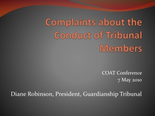 guardianship tribunal