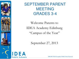 September Parent  MeetinG grades 3-4