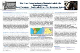 The Gran Chaco Indians of  Bañado  La  Estrella Formosa Region Western Paraguay∙ Eastern Bolivia ∙ Northeastern Argenti