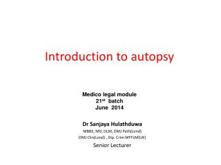 Introduction to autopsy