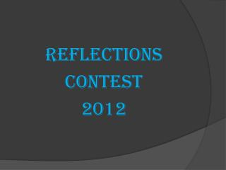Reflections contest 2012