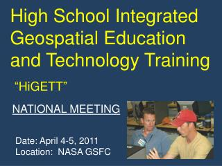 High School Integrated Geospatial Education and Technology Training