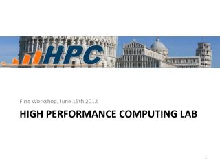 high Performance Computing Lab