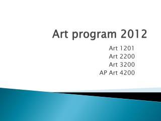 Art program 2012