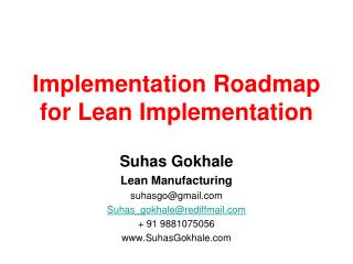 Implementation Roadmap for Lean Implementation