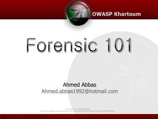 Ahmed Abbas Ahmed.abbas1992@hotmail.com