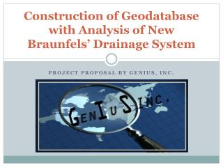 Construction of  Geodatabase  with Analysis of New Braunfels' Drainage System