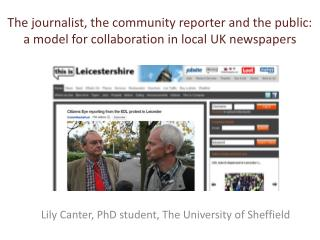 The journalist, the community reporter and the public: a model for collaboration in local UK newspapers