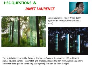 HSC QUESTIONS  &                         JANET LAURENCE