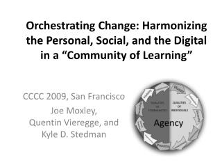 "Orchestrating Change: Harmonizing the Personal, Social, and the Digital in a ""Community of Learning"""