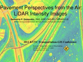 2012 KYTC Transportation-GIS Conference