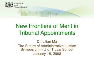 new frontiers of merit in tribunal appointments
