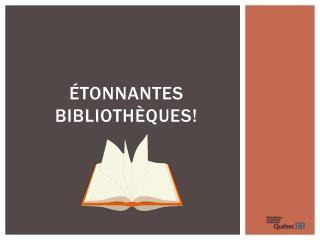 Étonnantes bibliothèques!