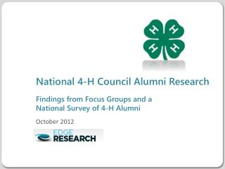 National 4-H Council Alumni Research