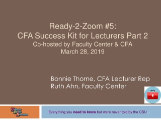 cfa lecturer  nuts  bolts  workshop