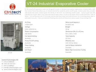 evaporative desert outdoor air cooler supplier agent Dubai