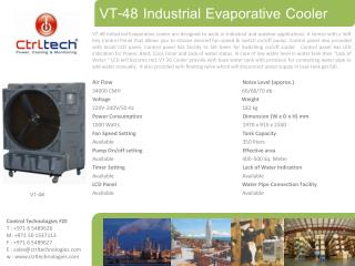 48 inch desert air cooler. outdoor air cooler. evaporative