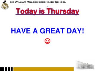 Today is Thursday