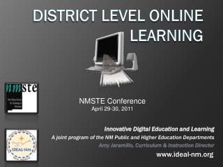 District Level Online Learning