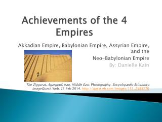 Achievements of the 4 Empires