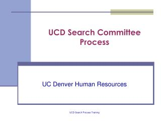 ucd search committee process