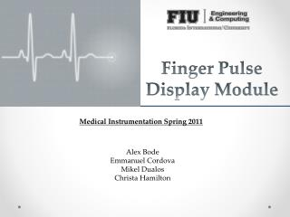Finger Pulse Display Module