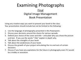 Examining Photographs